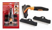 Зоомагазин - продукт Undercoat rake 3 interchangeable combs - гребен тип гребло 3 в 1